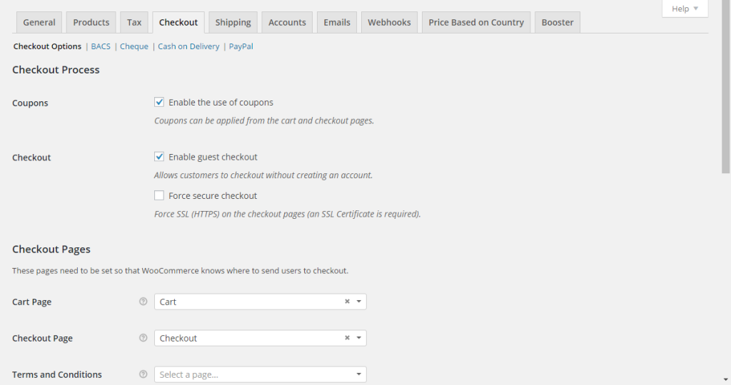 Ecommerce website features